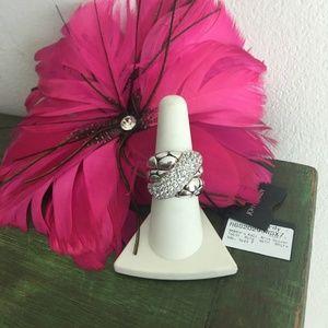 John Hardy Kali 3.8ct white sapphire ring NWT,sz 7